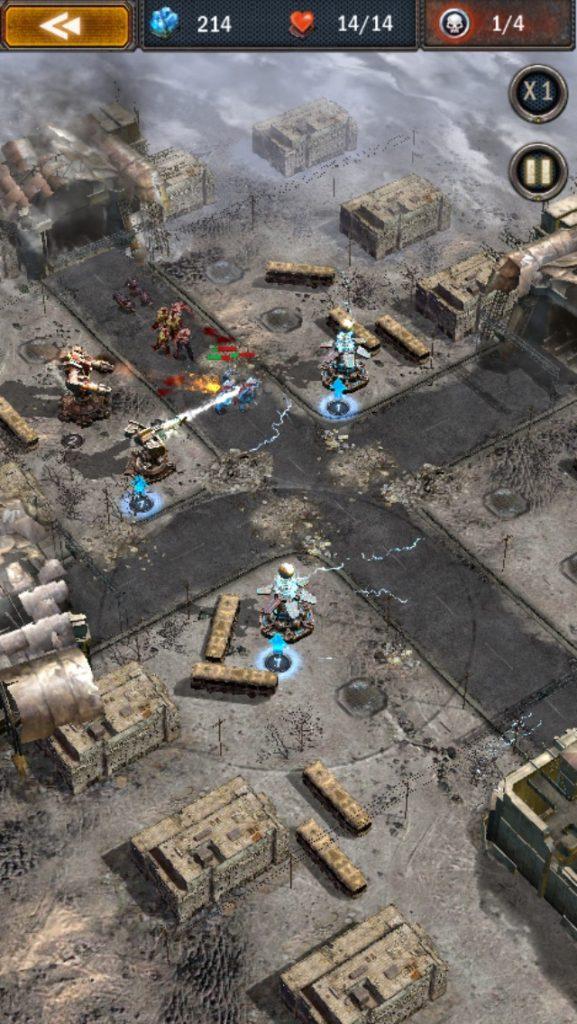 エイジ・オブ・ゼット。ゾンビに攻撃しているのが、レーザータワーユニットです。