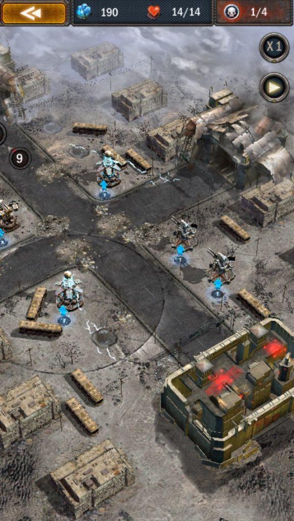エイジオブゼット。右側の2つのユニットがマシンガンタワーです。