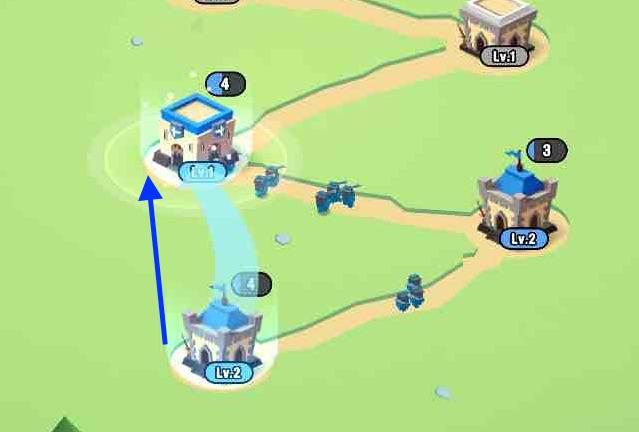 artofwarの兵士を移動させている画面です。