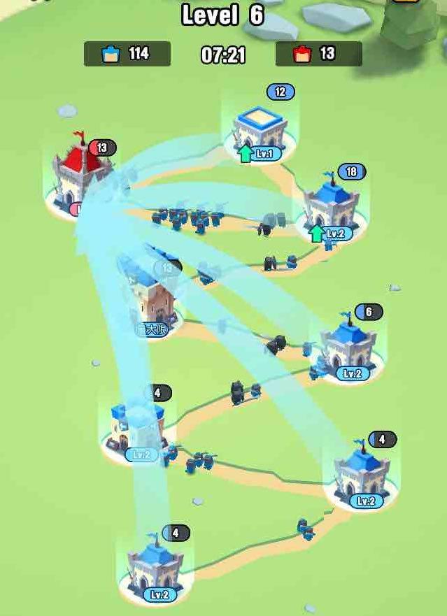 art of war 遠征ゲームの一斉に兵士を派遣している画面です。