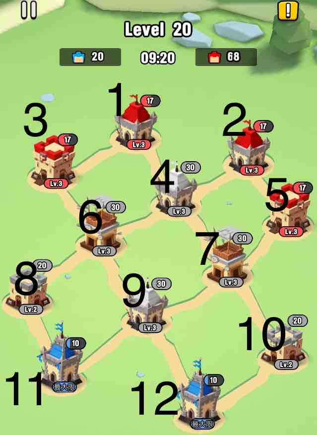 art of war legionsの遠征レベル20のマップ画面です。