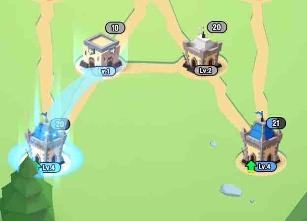 art of war(アートオブウォー)のチャプター2レベル20の左下から左上へ攻め込んでいる画面です。