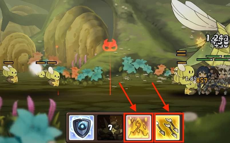 勇者の飯の戦闘画面です。8面の雑魚バチの画面です。