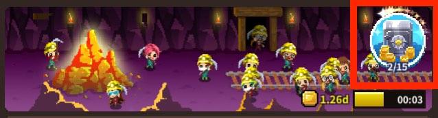 ビデオゲーム守護隊の本部画面です。小さな金庫を指しています。